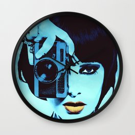 Orange Lips Wall Clock