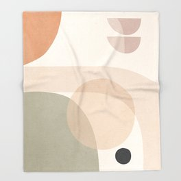 Abstract Minimal Shapes 11 Throw Blanket