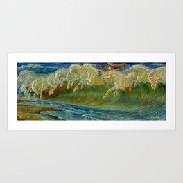"Walter Crane ""Neptune's Horses, 1893"" Art Print"