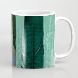 Mint green and feathers Coffee Mug