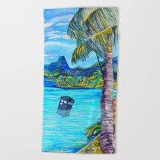 Tardis on the Beach Beach Towel