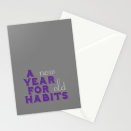 A Year for Habits Stationery Cards