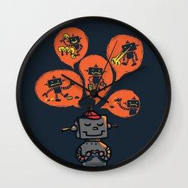 When I grow up - an evil robot dream Wall Clock