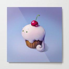 Art Snacks: The Cupcake Cat Metal Print