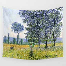 "Claude Monet ""Sunlight Effect under the Poplars"", 1887 Wall Tapestry"