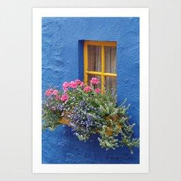 Blue House -Ireland Art Print