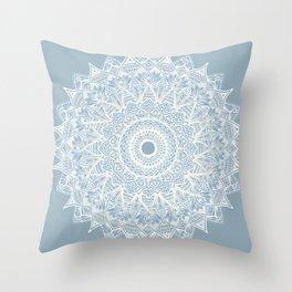 The Sunflower (gray-bue) Throw Pillow