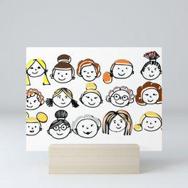 Sister hood - women internacional day Mini Art Print