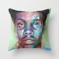 supreme Throw Pillows featuring true supreme by Matthew Asbury