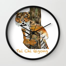Tai Chi Tiger Design Wall Clock