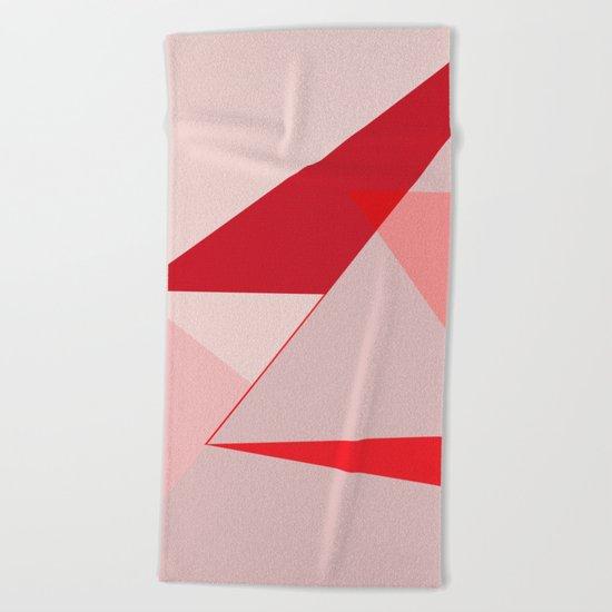 Geometric pink 02 Beach Towel