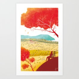 Illustre Conero - the meaning of life Art Print