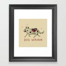 Dog Walker Framed Art Print