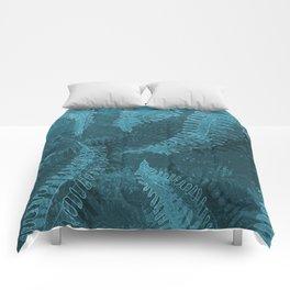 Ferns (light) abstract design Comforters