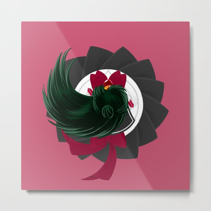 Spinning Senshi - Super Pluto  Metal Print