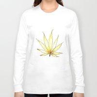 cannabis Long Sleeve T-shirts featuring Golden Cannabis by  Can Encin