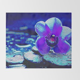 Spreckled Orchid Throw Blanket