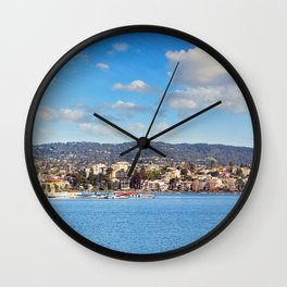 Lake Merritt Panorama - Oakland, California Wall Clock