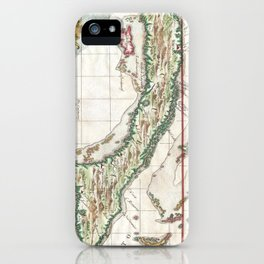 Vintage Map of Cuba and Jamaica (1763) iPhone Case