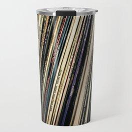 A Shelf of Vinyl Travel Mug