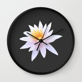 Geometric Lotus Flowers Wall Clock