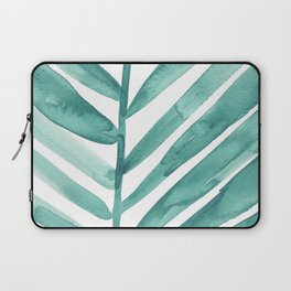 Green Palm Leaf Crop Laptop Sleeve