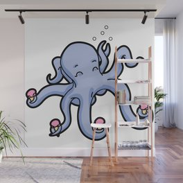 happy octopus ice cream time Wall Mural