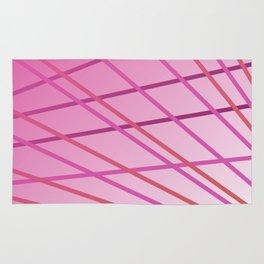 Pink cute lines Rug