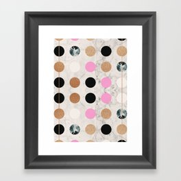 Rose Gold Dots Framed Art Print