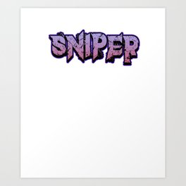 Sniper pc internet online game Shooter weapon target gift idea Art Print