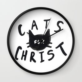 Cats for Christ Wall Clock