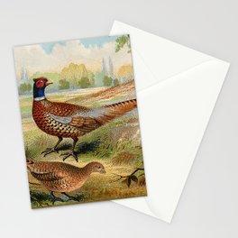 Vintage Pheasants Stationery Cards