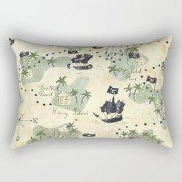 Hand Drawn Pirate Map Rectangular Pillow