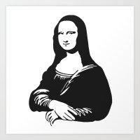 mona lisa Art Prints featuring Mona Lisa by b & c