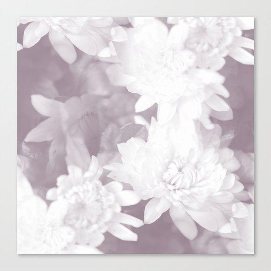 Elegant beauty - white flowers on purple background Canvas Print