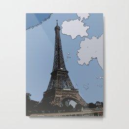 Eiffel Pastel  Metal Print