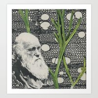darwin Art Prints featuring Darwin-ing by Eleanor Boersma
