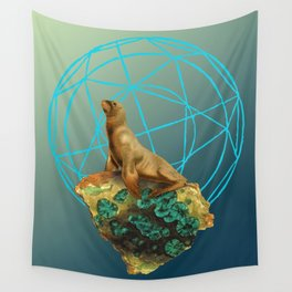 Apatite Sea Lion Wall Tapestry