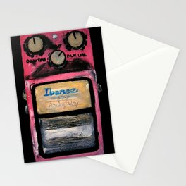 Ibanez AD-9 Analog Delay Guitar Pedal Acrylic Painting Stationery Cards