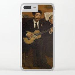 Lorenzo Pagans and Auguste de Gas by Edgar Degas Clear iPhone Case