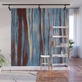 Dawn in the Winter Forest | Landscape Mood Painting Wall Mural