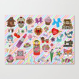 I Love Stickers Canvas Print