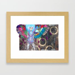 Quiet Parrot Framed Art Print