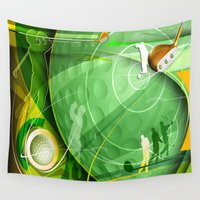 golf Wall Tapestries featuring Golf Anyone? by Robin Curtiss