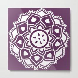 mandala flower purple Metal Print