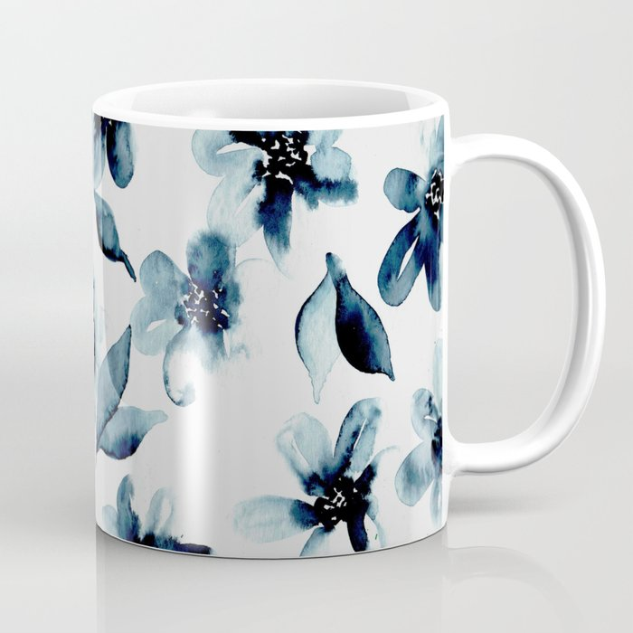 Indigo Flowers Coffee Mug