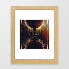 Play That Song Again Framed Art Print