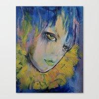 indigo Canvas Prints featuring Indigo by Michael Creese