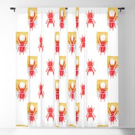 Red stag facing a golden sky Blackout Curtain