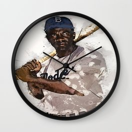 jackie Robinson Wall Clock